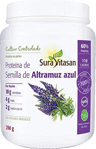 Proteina Altramuz Azul Semilla 250 gr Suravitasan: Amazon.es ...