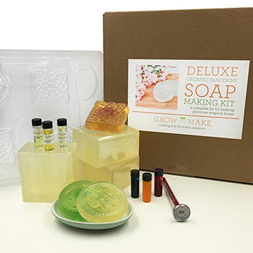- Grow and Make DIY Deluxe Organic Soap Making Kit - Learn How to Create Your Own Coconut Oil Glycerin Soap