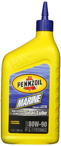 Lower Unit Gear Lubricant (Pennzoil  4949 Marine High Viscosity Lower Unit Gear Lube, 1 Quart, (Single Unit))