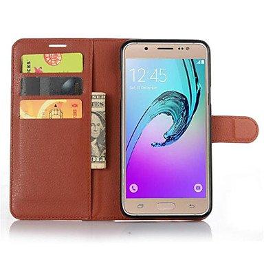Luxury Vintage Wallet PU Flip Leather Cover Case For Samsung Galaxy J1/J2/J3/J5/J7/J1 Mini/J1 Ace/J102/J 310/J510/J710 ( Color : Brown , Compatible Models : Galaxy J3 - Cover Flip Ace Samsung Galaxy