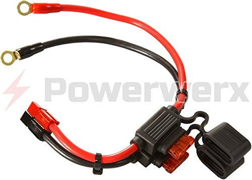 Powerwerx RGH-10 ATC Style Fuse Holder 10 GA with Ring Terminals and Powerpole Connectors