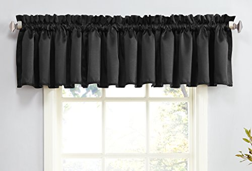 Sun Zero Barrow Energy Efficient Rod Pocket Curtain Valance,