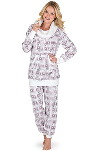 PajamaGram Soft Fleece Pajamas Women - Pajamas for Women, Pink, M, 8-10