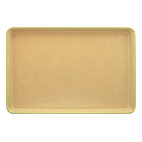 (Market Tray Beige Fiberglass Bakery Display Tray - 18