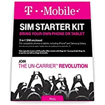 T-Mobile Prepaid Complete SIM Starter Kit - No Contract Network Connection (Universal: Standard, Micro, Nano SIM)