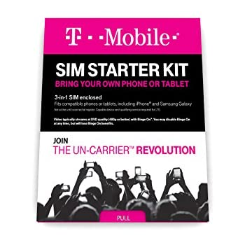 T-Mobile Prepaid Complete SIM Starter Kit – $25 Amazon Gift Card with Activation