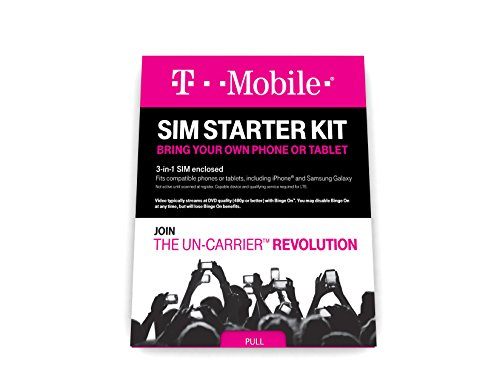 T-Mobile Prepaid Complete SIM Starter Kit – $25 Amazon Gift Card with Activation from T-Mobile