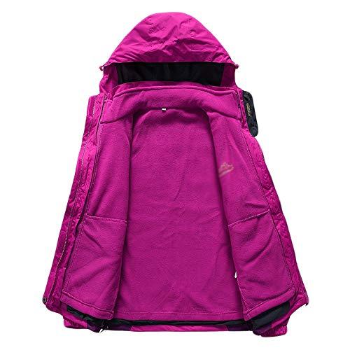Fleece Trabajo Prendas Jingrong Mujeres De Pink Liner Piezas A Dos Abrigo Agua Prueba Chaqueta Ropa Deportiva Exterior Para qFF1w0