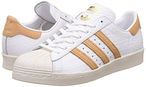 Superstar 80s Blanco Oro Mens Leather adidas Trainers vAaxSw