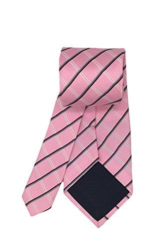 Classico Legami Tessuta Rosa Cravatta Seta Di Mendeng Degli Controllo Plaid Business Uomini wRtxd5qd