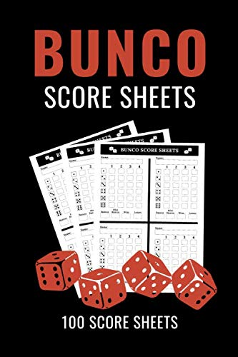 Halloween Invitations Cards Printable (Bunco Score Sheets: 100 Bunco Score Cards, Scoring Pad for Bunco Players, Score Keeper Tracker Game Record Notebook, Gift Ideas for Bunco Party Night, Bunco Dice Game, Handy Size 6)