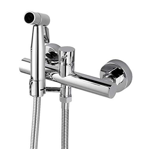 (Bidet Wall Warm Water Stainless Steel Faucet Sprayer Attachment For Toilet mixed Bidet Faucet With Hot And Cold Water Single Handle Wall Mount Bidet Sprayer)