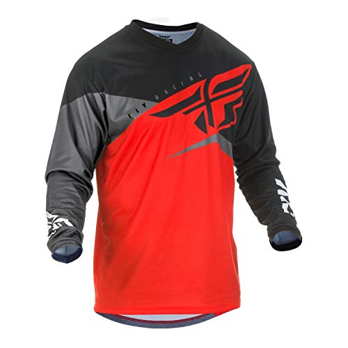 Fly Racing F-16 Race - Fly Racing 2019 Youth F-16 Jersey (LARGE) (RED/BLACK/GREY)