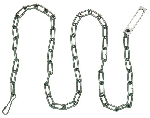 Peerless Handcuff Company Security Plated Chain with Oversize Pass-Through Link and Heavy Duty Snap at Either End - Either End