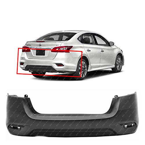 MBI AUTO - Primered, Rear Bumper Cover for 2016-2019 Nissan Sentra SR 16-19, NI1100313