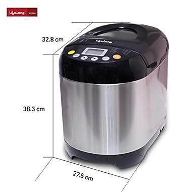 Lifelong Atta and Bread Maker 550 Watt (19 Pre-Set Menu with Adjustable Crust Control) 9