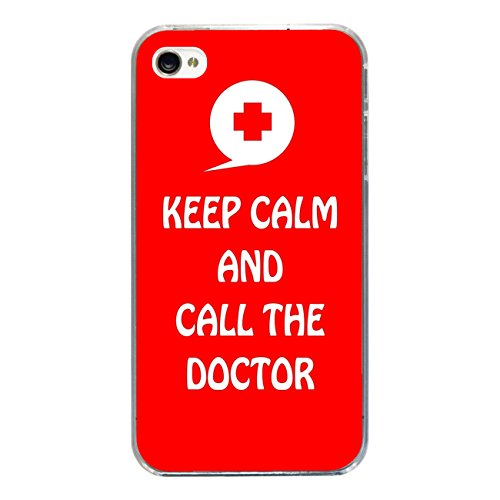 """Disagu Design Case Coque pour Apple iPhone 4s Housse etui coque pochette """"KEEP CALM AND CALL THE DOCTOR"""""""