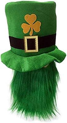 Día de San Patricio Trébol verde Orgía Sombrero con barba Día de ...