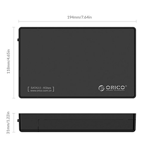 ORICO Toolfree USB 3.0 to SATA External 3.5 Hard Drive Enclosure Case for 3.5 SATA HDD and SSD[Support UASP and 8TB Drives] by ORICO (Image #5)