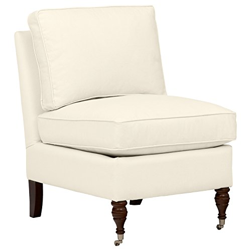 Stone Beam Elmore Pillow-Top Armless Accent Chair, 24 W, Beige
