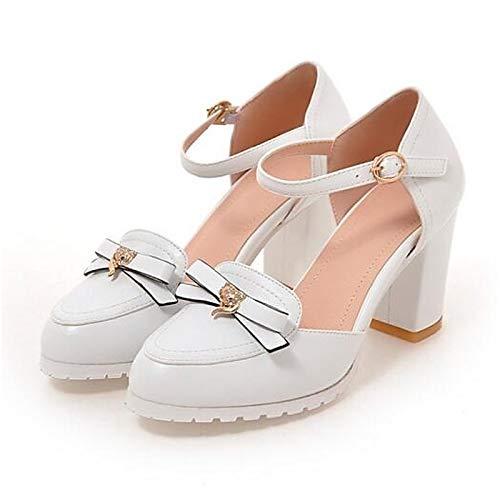 Comfort Black Women's Heels White Polyurethane Shoes White ZHZNVX Chunky Heel Pink PU Spring q6XwZTpWBT