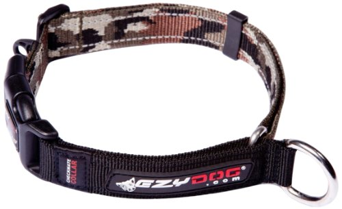 EzyDog Checkmate Collar, Small, Green Camouflage
