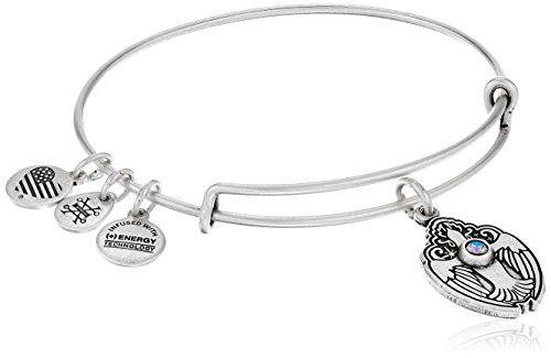 Alex and Ani Crystal Dove Rafaelian Silver Bangle Bracelet by Alex and Ani