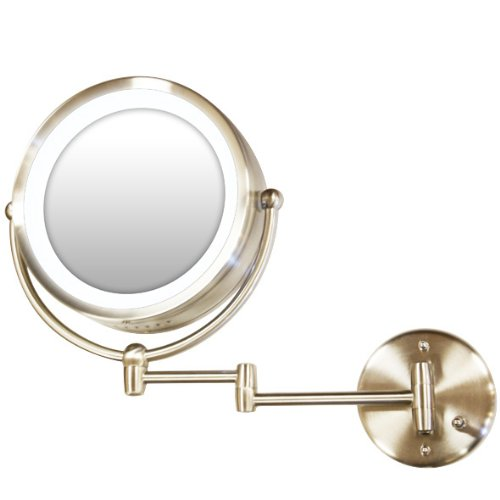 Rucci Normal View Wall-Mounted Lighted Mirror, 10X