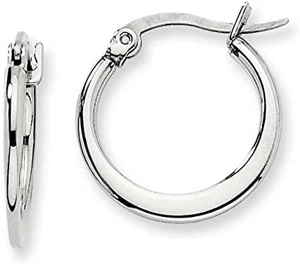 Chisel Stainless Steel 19mm Diameter Hoop Earrings