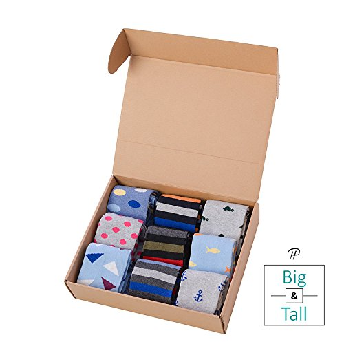 Big & Tall Premium Over the Calf Dress Socks (Shoe Size 13-15) (B&T 3) by Pierre Henry Socks