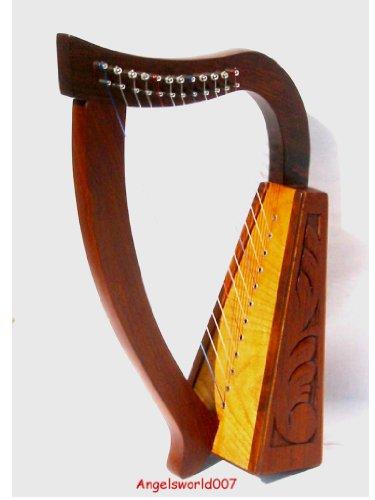 Irisch keltische Harfe 12 Saiten incl Ersatzsaiten NEU