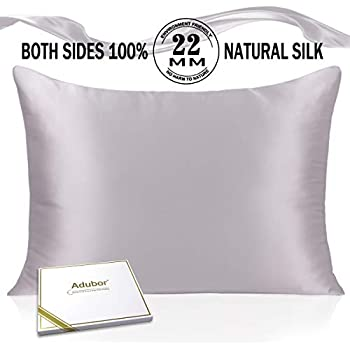 Amazon Com Sleep Mantra Silk Pillowcase Queen Size Silver