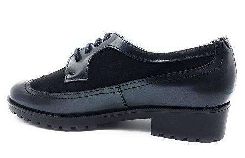 5574 Cordones Maria Jaen Mujer Zapato Negro Rtq5wBq
