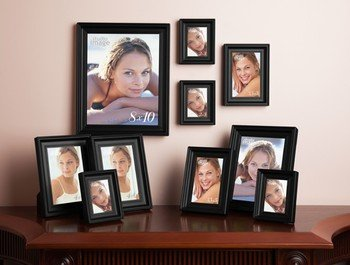 10 PIECE PICTURE FRAME SET CONTEMPORARY BLACK