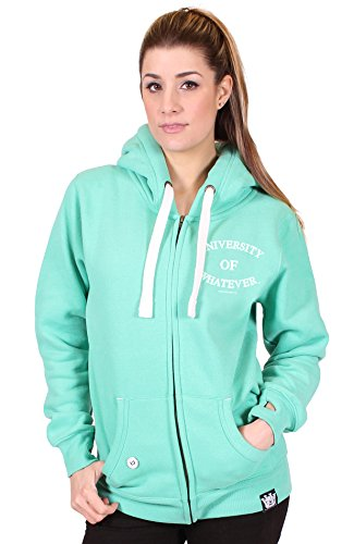 University of Whatever - Zip Hoodies - Women - Unestablished(XS Unest Green W81) (Sweters Real Madrid)