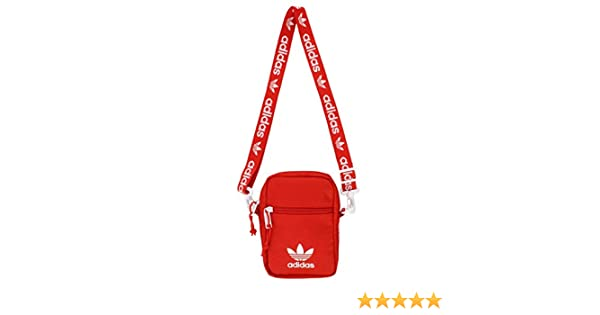 8f71a23e3a8 Amazon.com  adidas Originals Festival Crossbody Bag, Red, One Size  Sports    Outdoors
