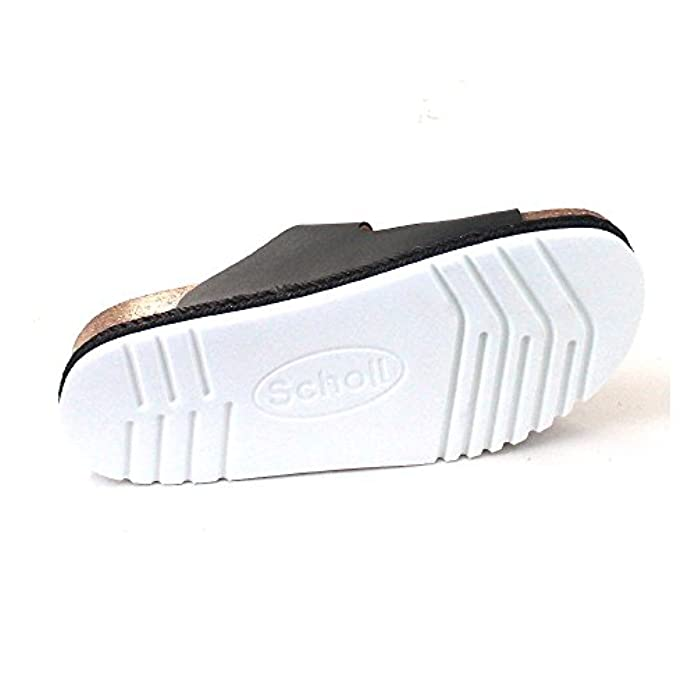 Scholl Olympe White Black Leather