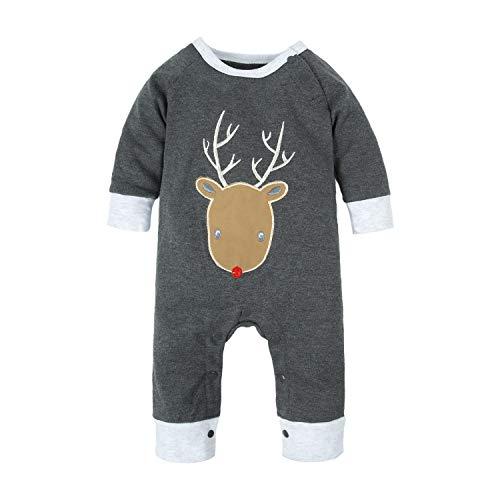 ys'1 Piece Cute Elk Christmas Long Sleeve Romper Jumpsuit M11 ()
