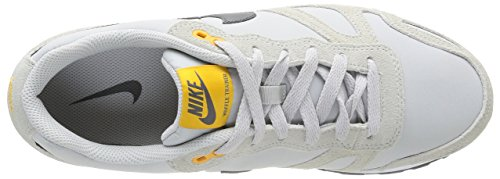 Nike Air Waffle Trainer Leather Herren Low-Top Sneaker, Mehrfarbig (LGHT ASH GRY/MDM ASH-WHITE-UNV)