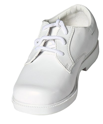 Boys White Lace Up Square Toe Dress Shoes - Wedding - First Communion