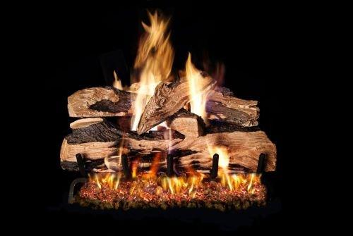 Log Oak Plus Designer (Standard Golden Oak Designer Plus Gas Logs - 12 Inch)