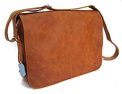 Cartable sac artisanal mj en cuir véritable de vachette naturel