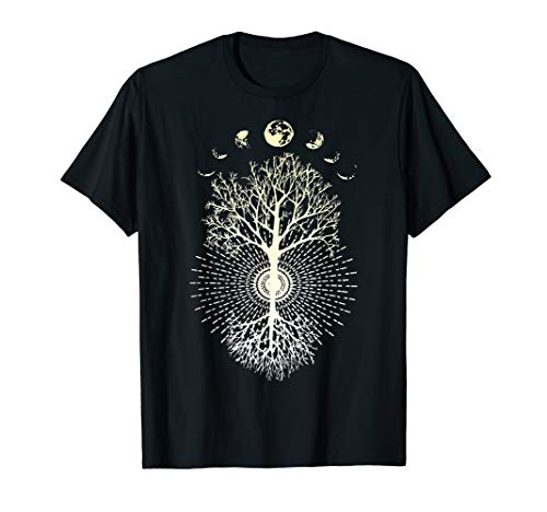 (Phases of the Moon Tree Shirt)