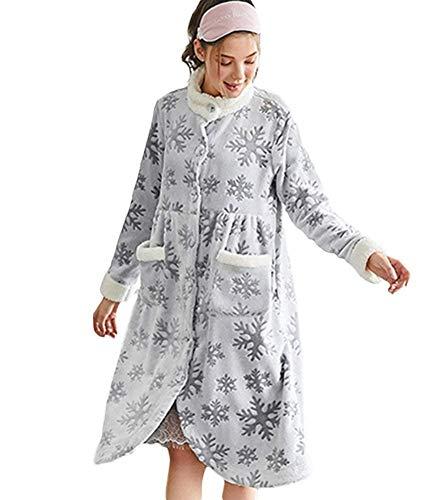 Escudo Con Grau To Bolsillo Pung Sche Calentamiento Larga Chaqueta Bata Ankle Franela Dormir Fashionista Sauna Manga Pijamas Noche Mujeres De Para Invierno qq41HXw