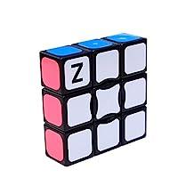 Qm-h Z-cube 1x3x3 Classical Rubik's Speed Puzzle Magic Sticker Black