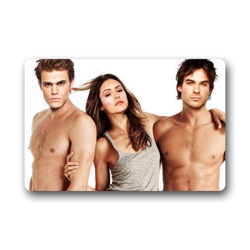 The Vampire Diaries Paul Wesley Stefan Salvatore Custom Doormat (23.6x15.7 inch) Indoor Outdoor