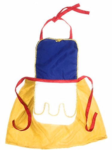 Snow White Inspired Princess Dress Up Aprons (medium, blue/red/yellow) (Snow White Family Costumes)