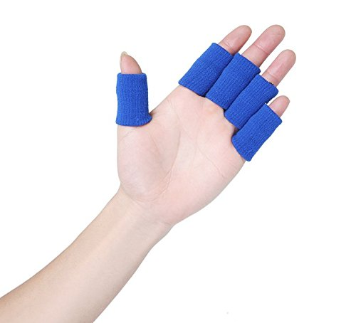 CTKcom 10PCS Stretchy Finger Protector Sleeve Support Arthritis Sports Aid