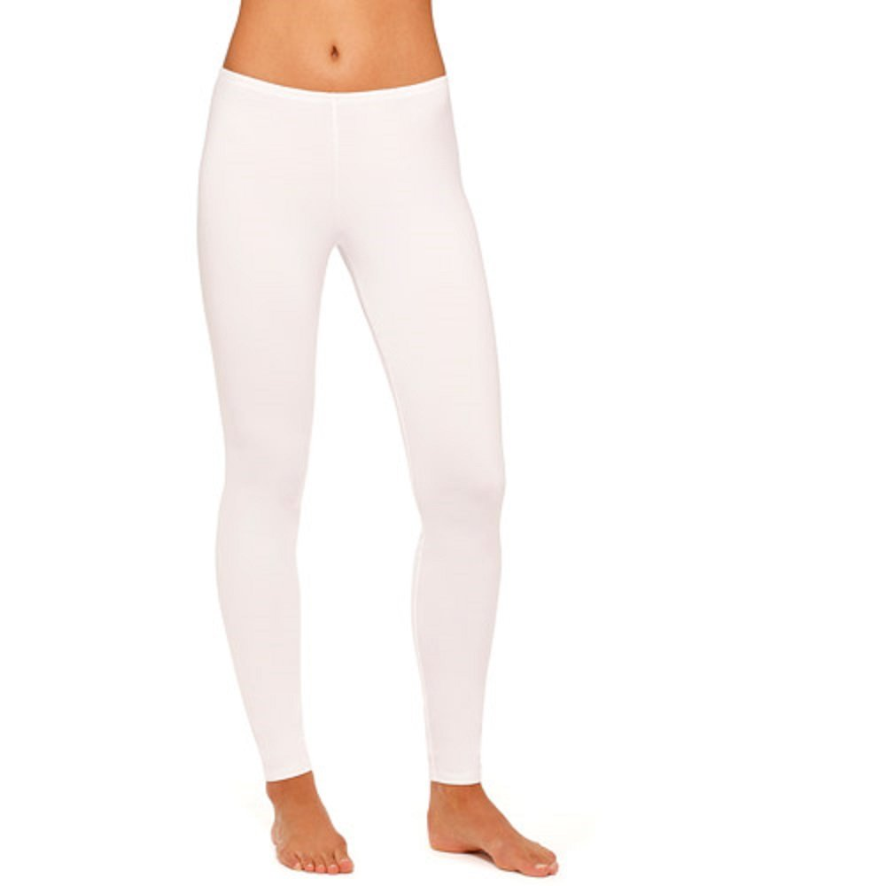 8585689e8074 Cuddl Duds Women's ClimateRight Stretch Microfiber Warm Underwear  Legging(XX-Large, White) at Amazon Women's Clothing store: