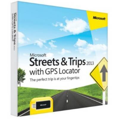 Microsoft ZV3-00026 Streets & Trips 2013 with GPS(US & Canada)